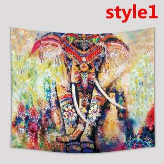 Elephant Series Tapestry Wall Hanging Decor Mat Picnic