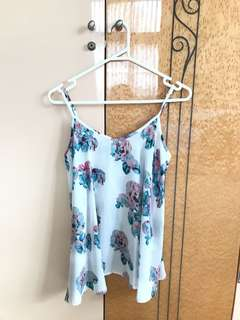 Floral white cami top