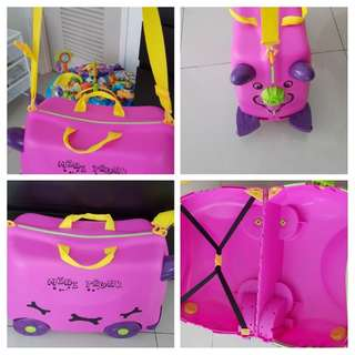 Kid mini trunk ride-on suitcase
