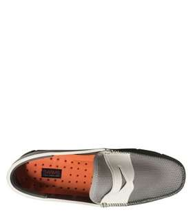 Penny loafer gray/white