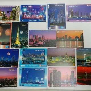 (免費平郵)珍藏日本八九十年代已使用電話卡鐵路卡日本風情畫地鐵圖書風景旅遊