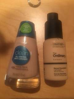 Cover girl and ordinary foundation