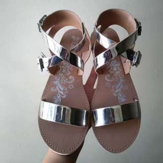 Brash by Payless Silver Sandals