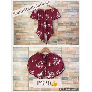 Floral Off Shoulder Terno