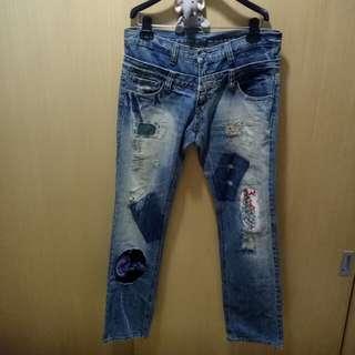 【古著】鬼印 酷酷牛仔褲(31)