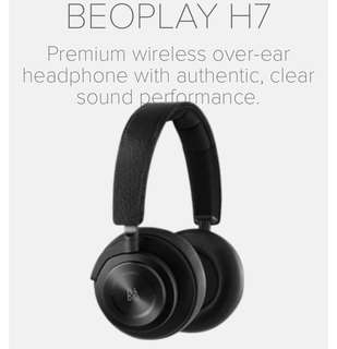 [BNIB]B&O PLAY by Bang & Olufsen BeoPlay H7 Wireless Over Ear Headphones (Black)