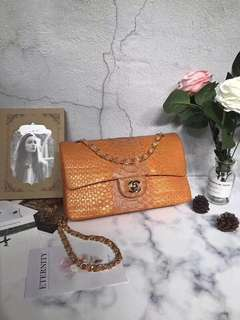 Chanel01112#香奈兒cf最新版獨家首發 2.55蟒蛇頂級,南非蟒蛇皮定制款,南非進口蟒蛇皮,內里全鹿皮,專櫃同等品質,尺寸:25.5 ×7 ×16