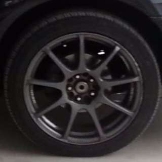 """Final reduction - 4 set 17"""" Rim n tyre for sale - used on subaru impreza- bought whole set for $1499 but selling for $499 only"""