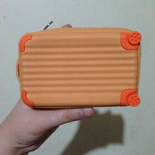 Jelly Luggage wallet coin purse Orange