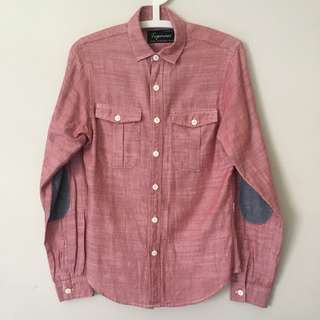 TOPMAN Long Sleeve Shirt With Elbow Patch
