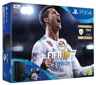 FIFA 18 PS4 Bundle - 2 Controllers