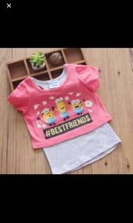 Minions TOP Brand New Size Available For 4-6yrs Old