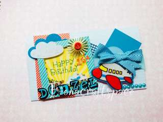Customized card cum envelope for gift vouchers