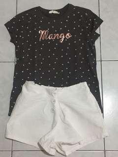 Mango top and Gingersnap shorts