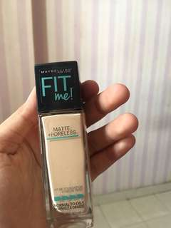 Foundation maybelline fit me matte and poreless