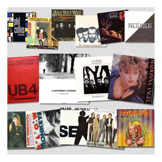"7"" singles record vinyls various madonna and more pop rock etc"