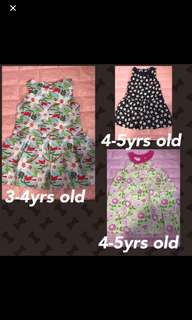Clear Stock Sales brand new kids floral dress size shown on pic