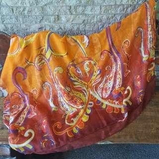 Indian Orange Summer Wrap/Shawl