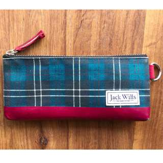 Jack Wills Tartan Pencil Case (Original)