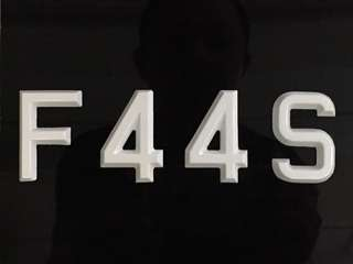 Number plate for sale F44S