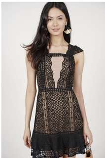 Lace Mesh Dress in Mesh