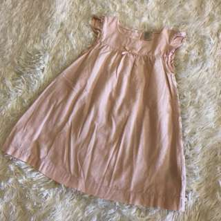 H&M小飛袖洋裝(淡粉)