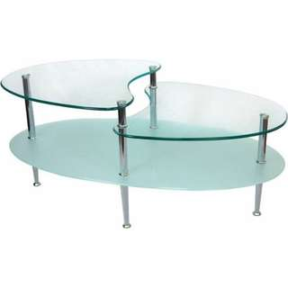 Mariner oval glass coffee table