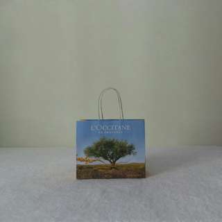 L'occitane Yellow Paper Bag