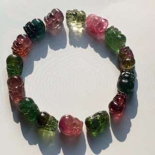 3⃣️ Brazilian natural tourmaline bracelet.