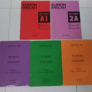 Kumon books with CDs