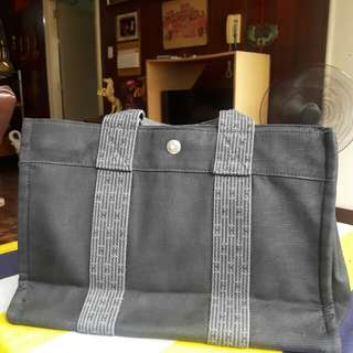 Authentic HERMES canvas fourre tout pm TOTE BAG!!