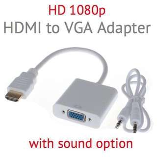 HDMI to VGA Adapter (sound option) Cable Converter