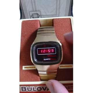 懷舊寶路華 (Bulova red LED Quartz N6)石英男裝手錶