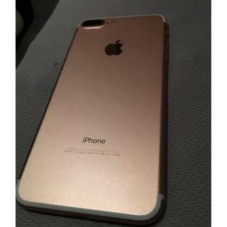 iphone7 plus 128G 玫瑰金! 全機如照片 沒傷!!