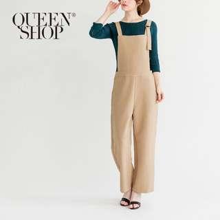 全新Queen shop圓環吊帶西裝連身褲