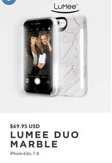 Marble Lumee case iPhone 6, 6s, 7 and 8