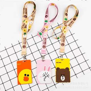 Line Friends Work Tag and Lanyard