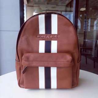 Coach Charles Backpack in Varsity leather
