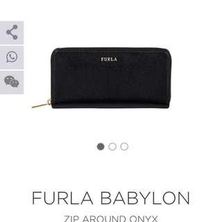 Furla babylon錢包金字logo 台灣售價:7299  全新現在:5300