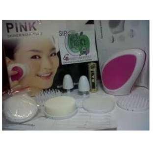 setrika wajah dan skinner pink dengan beauty skin set