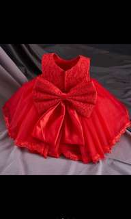 {ready stock} Korea style baby girl fashion princess dress