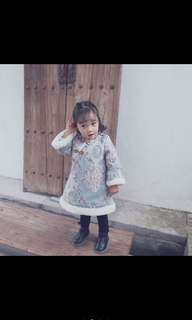 {ready stock} Chinese style baby girl dress