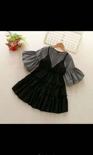 {ready stock} Korea style baby girl dress