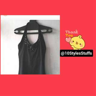 SOLD: Black Beads Backless