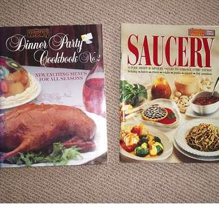 Dinner Party Cook book & Saucery+Kitchen Collection Books (Bulk Sale-10 books)
