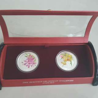 2008 orchids silver coin set