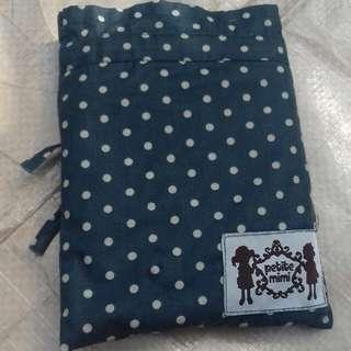 nursing apron biru kehitam