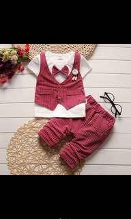 {ready stock} Korea style baby boy cloth set