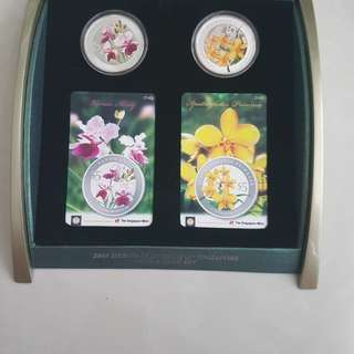 2009 orchids coin card set