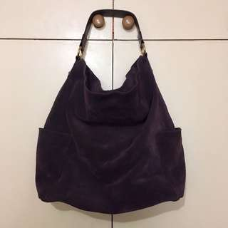 Preloved Bloomingdales suede hobo bag